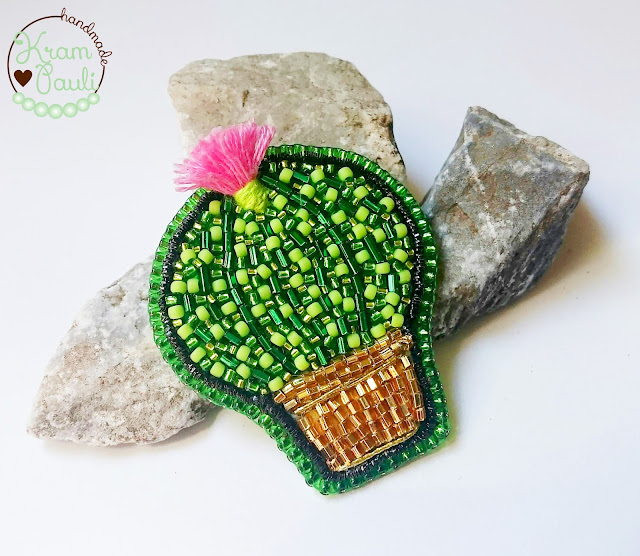 Zielono mi – Kaktusowa broszka