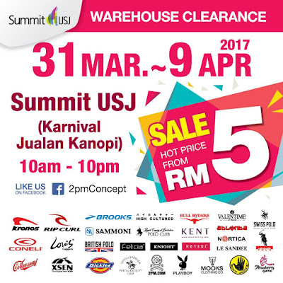 Summit USJ Warehouse Clearance Sale