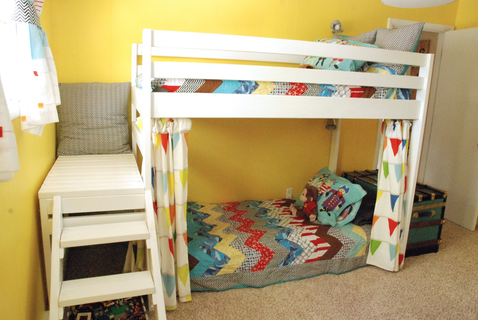 Fun Diy Projects For Bedrooms Diy Kids Loft Bunk Bed With Stairs