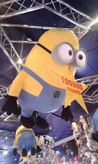 If you win 100,000 tickets you can get one of these MASSIVE Minions in the Amusement Arcade on Clacton Pier