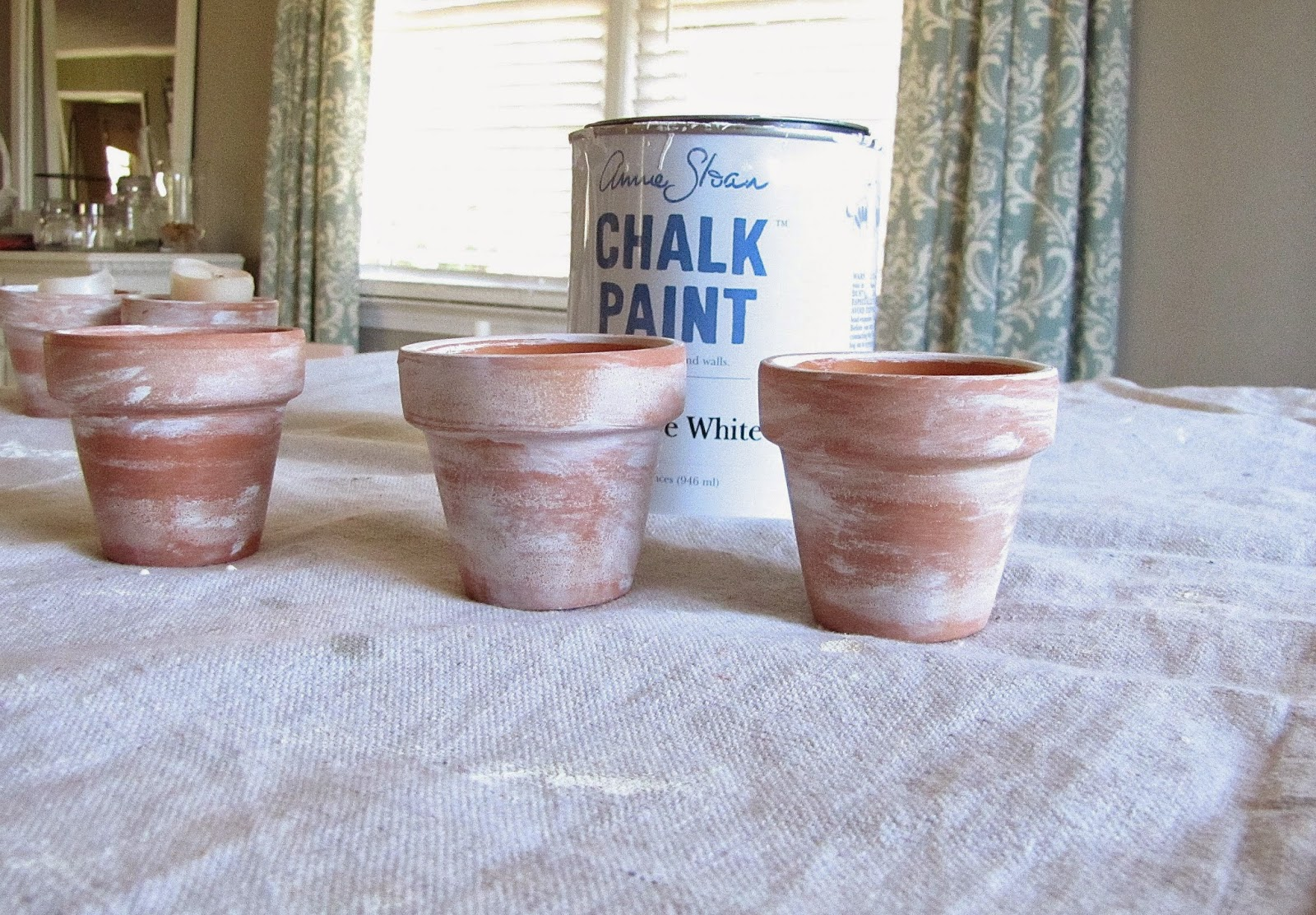 aging terra cotta with chalk paint