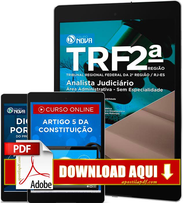 Apostila TRF 2 Região 2016 PDF Download Analista Judiciário Área Administrativa