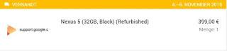 Nexus 5 Refurbished-1: erwartetes Liefertdatum 4.-6.11.2015