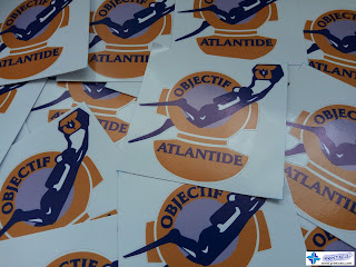 Small Die-Cut Vinyl Stickers for Objectif Atlantide