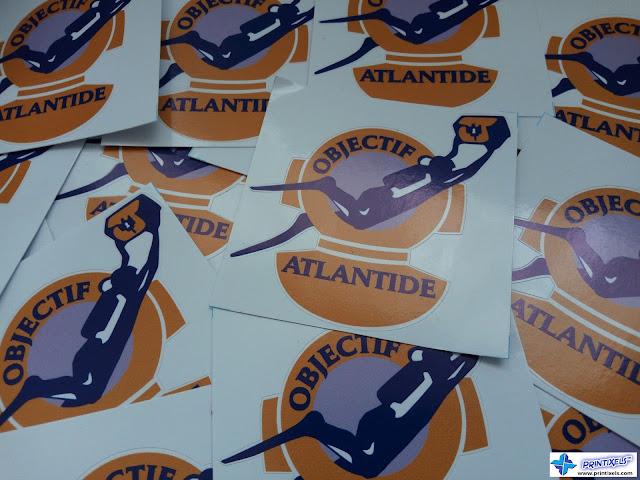 Small Die-Cut Vinyl Stickers for Objectif Atlantide