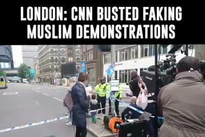 Terbongkar! Berita Aksi Anti Isis di London Ternyata Settingan CNN, Netizen Kecam: CNN=Critone Nipa Nipu