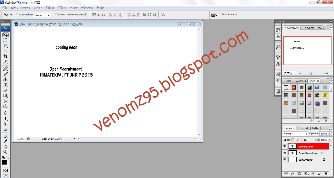 Membuat text photoshop