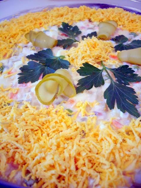 Recept za sočnu rusku salatu