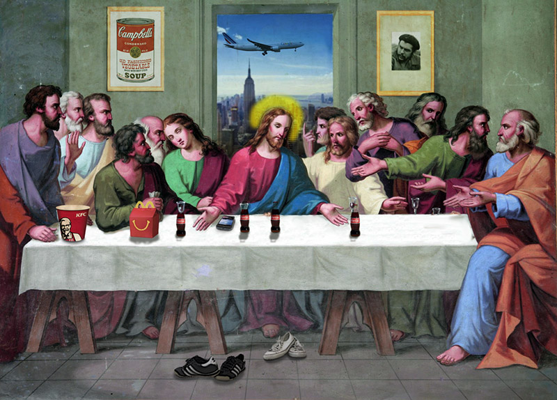 judas leaves last supper into the night - 800×574