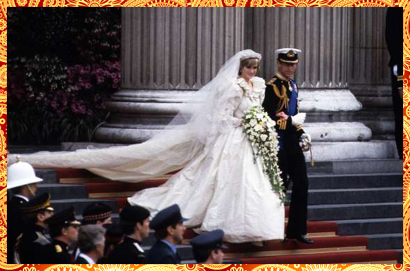 Britain's Prince Charles and Diana, Princess of Wales, 1981 (Royal Adorable Wedding Dress)