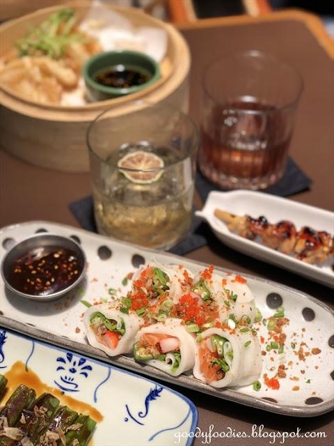 Foie gras salmon cheong fun, Lucky Tora KL