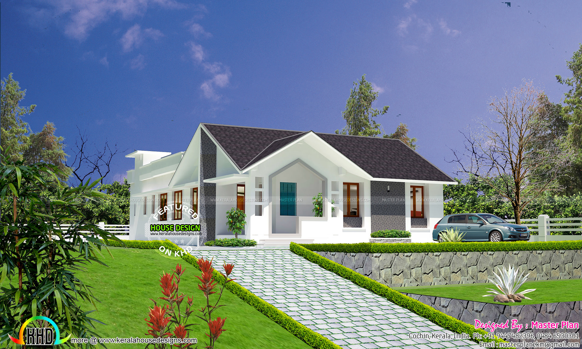 Very cute home hill station house kerala home design and for Cute house design