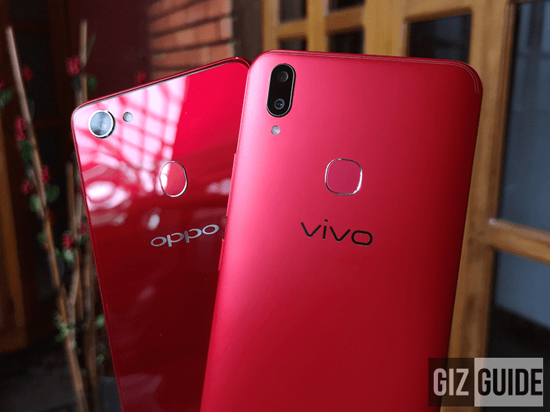 Vivo V9 Velvet Red vs OPPO F7
