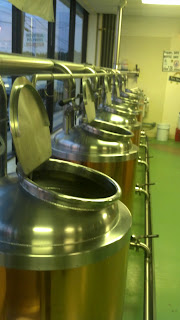 the kettle line up at Deja Brew