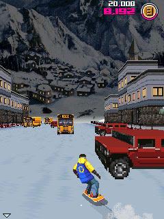 Avalanche Snowboarding game ponsel Java jar