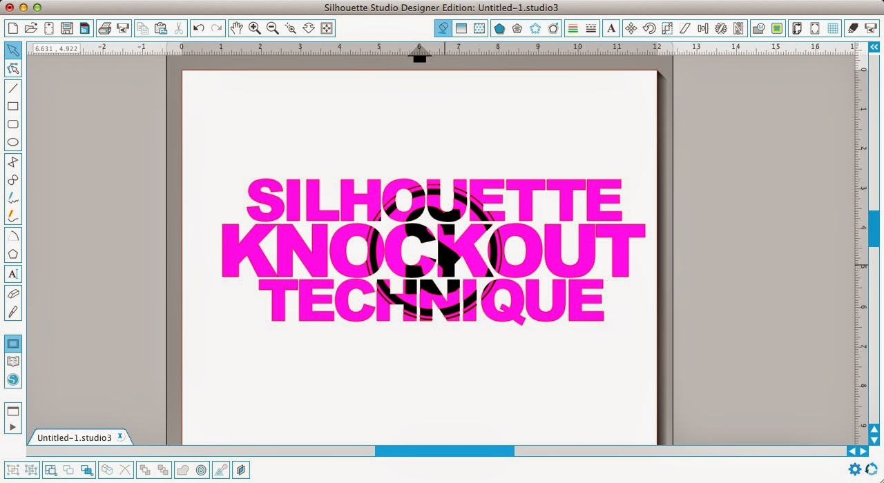 Silhouette tutorial, knockout technique, knockout, Silhouette Studio