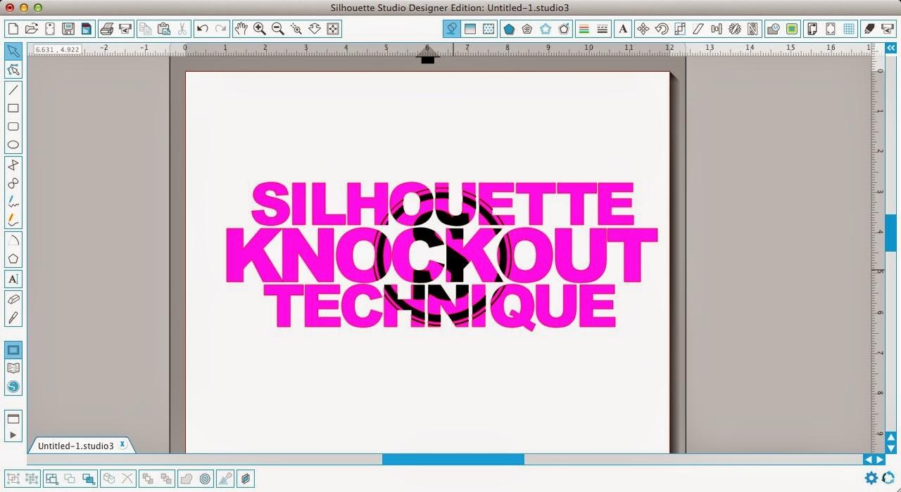 Silhouette tutorial, knockout technique, knockout, Silhouette Studio