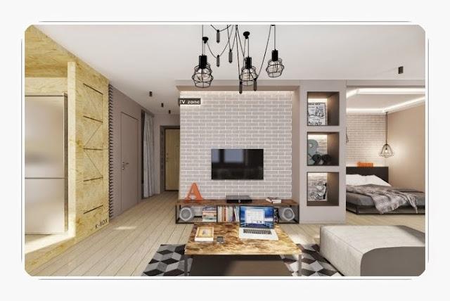 Insipirasi Design Interior Apartement Tipe Studio