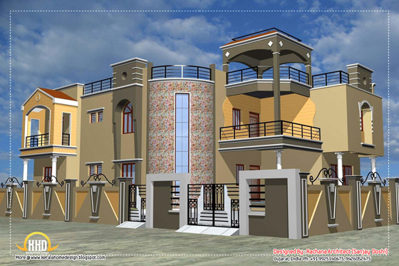 Indian house elevation - 4200 Sq.Ft.
