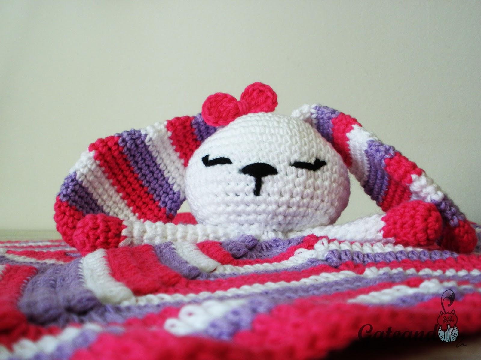 Patrón manta de apego crochet