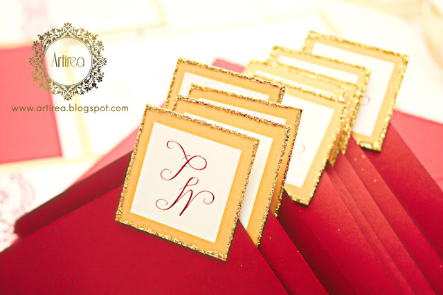 zlote bordowe koronkowe zaproszenia slubne eleganckie artirea
