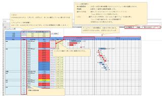 エクセル版タイムチャート作成ツール