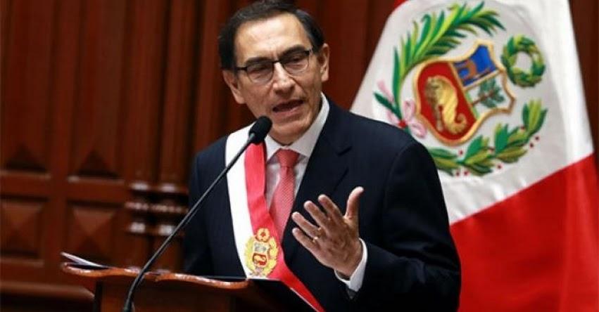 El Congreso debe respetar la voluntad popular respecto al referéndum, sostuvo el Presidente Martín Vizcarra