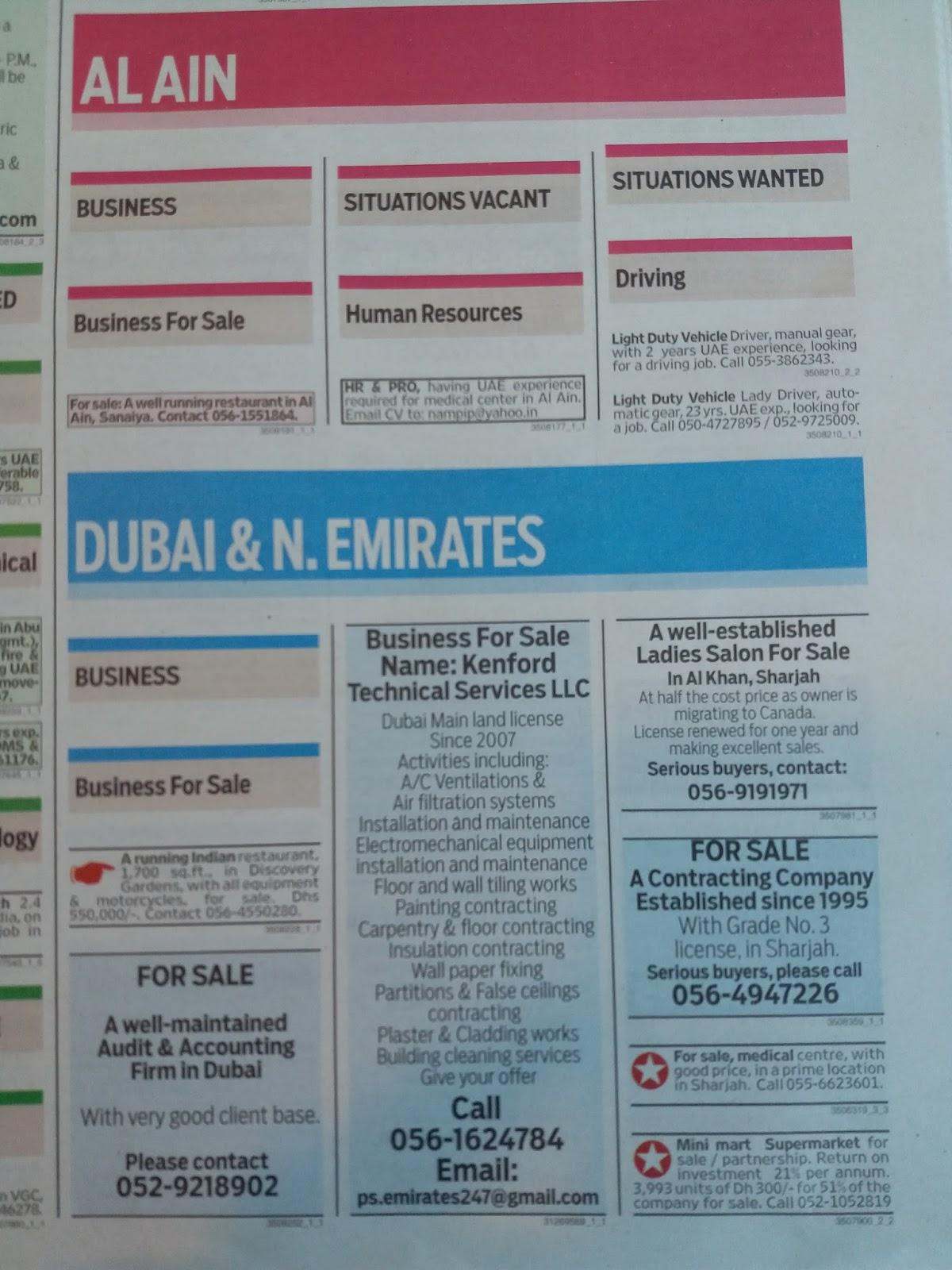 DAILY DUBAI JOB: DUBAI JOBS OF 02-OCTOBER-2017