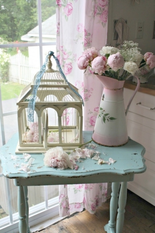 Cheap vintage shabby chic style kitchen design and for Cheap chic home decor