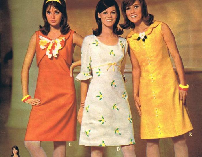 En Casa De Oly Vestido Evasé De Los Años 60