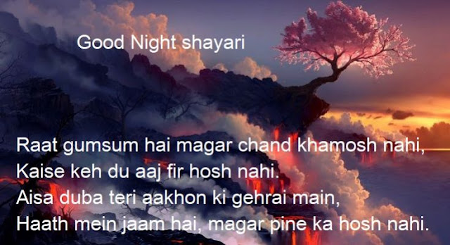 good night shayari collection