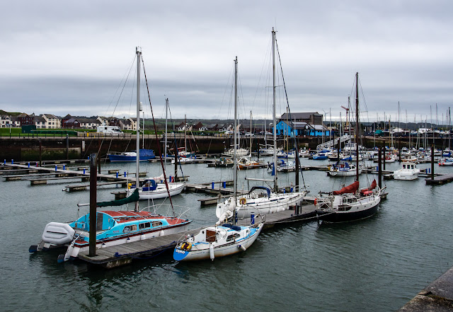 Photo of a grey day at Maryport Marina on Saturday