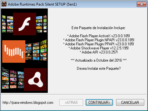 Adobe Flash Player ActiveX v23.0.0.185 Adobe Flash Player Plugin (NPAPI) v23.0.0.185 Adobe Flash Player PPAPI v23.0.0.185 Adobe Shockwave Player v12.2.5.195 Adobe AIR v23.0.0.257