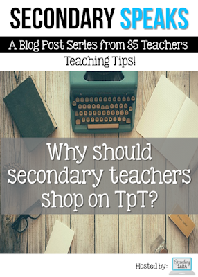 Why should secondary teachers shop on Teachers Pay Teachers? Great question! A wealth of secondary Teacher-Authors came together on this collaborative blog post to share the three main reasons they feel that secondary teachers should shop on TpT, including saving time, improving teaching skills, and supporting other teachers.