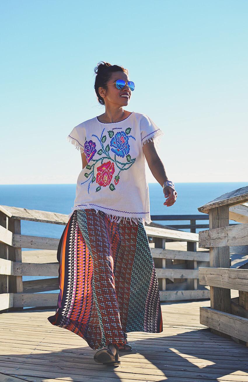Bohemian beach outfit