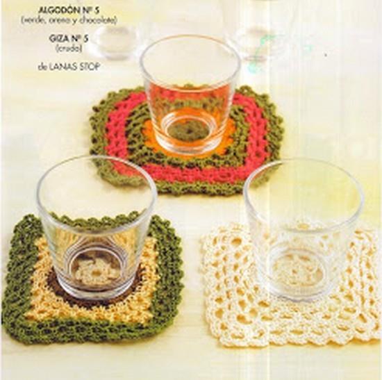 Posavasos de Crochet Patrones