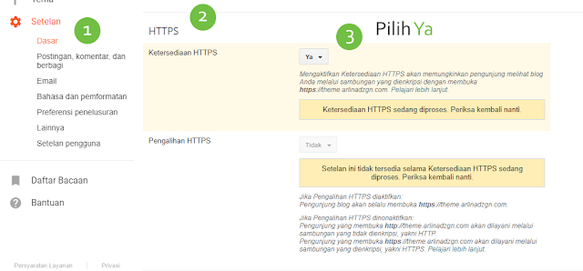 Cara Setting dan Mengaktifkan HTTPS di Blog Dengan Custom Domain