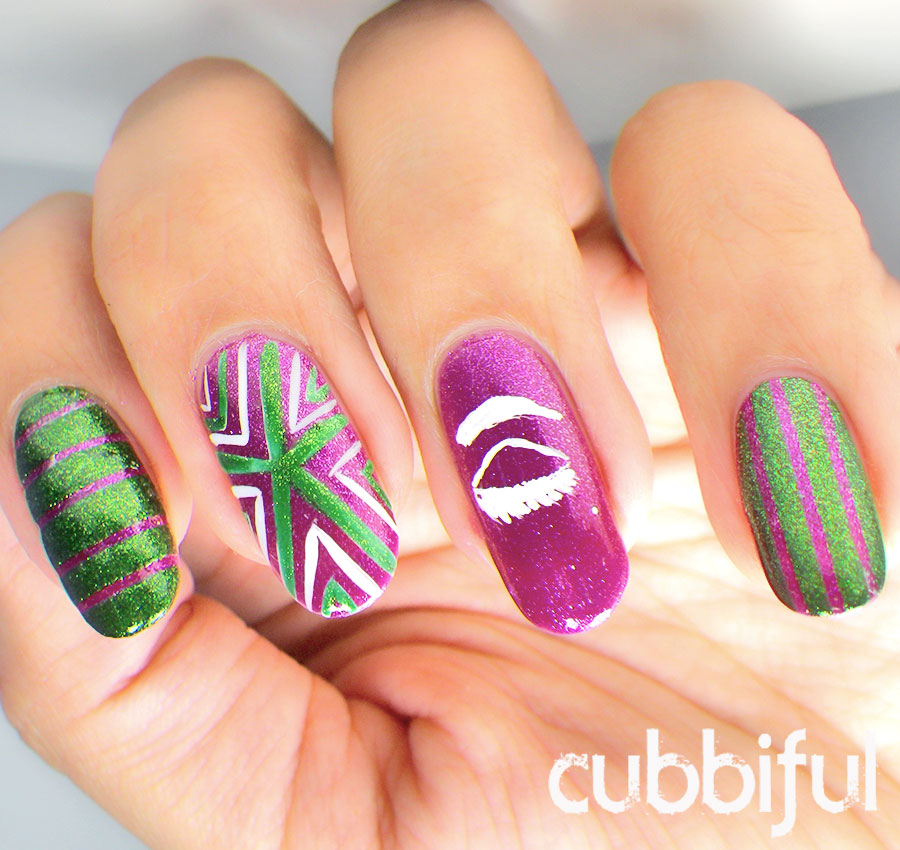 mod fashion geometric nails