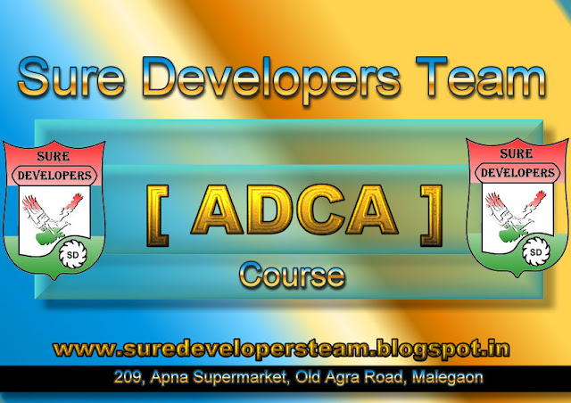 Advance Diploma in Computer Application [ADCA]