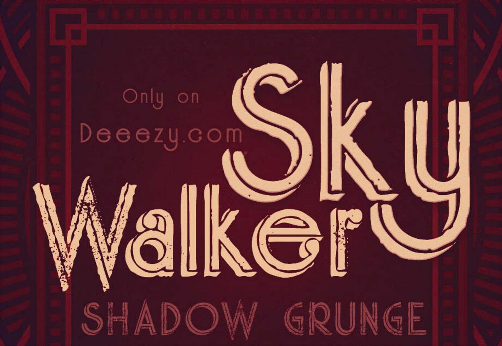 Font Edisi September - Skywalker Shadow Grunge Font