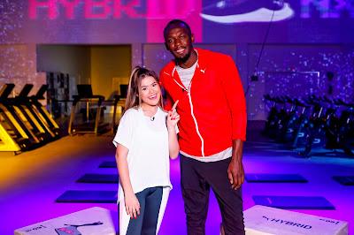 Maisa e Usain Bolt - Crédito: Gabriel Cardoso/SBT