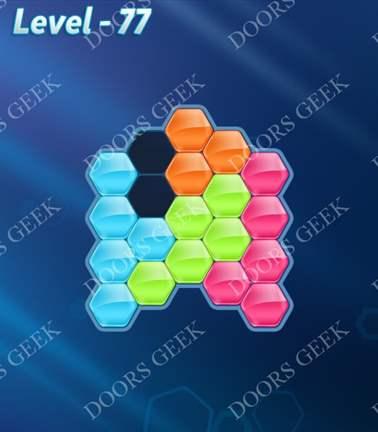 Block! Hexa Puzzle [Rainbow A] Level 77 Solution, Cheats, Walkthrough for android, iphone, ipad, ipod