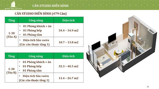 Căn hộ Studio điển hình