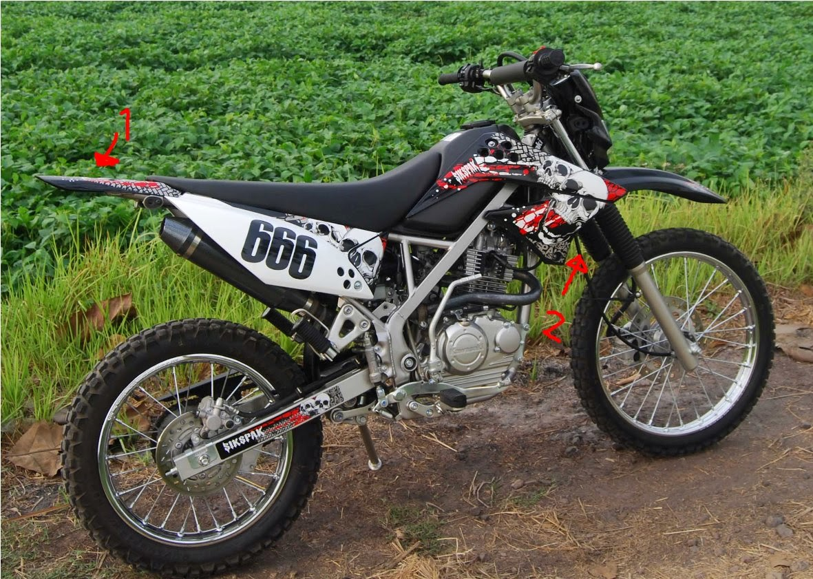 modifikasi motor klx tahun ini