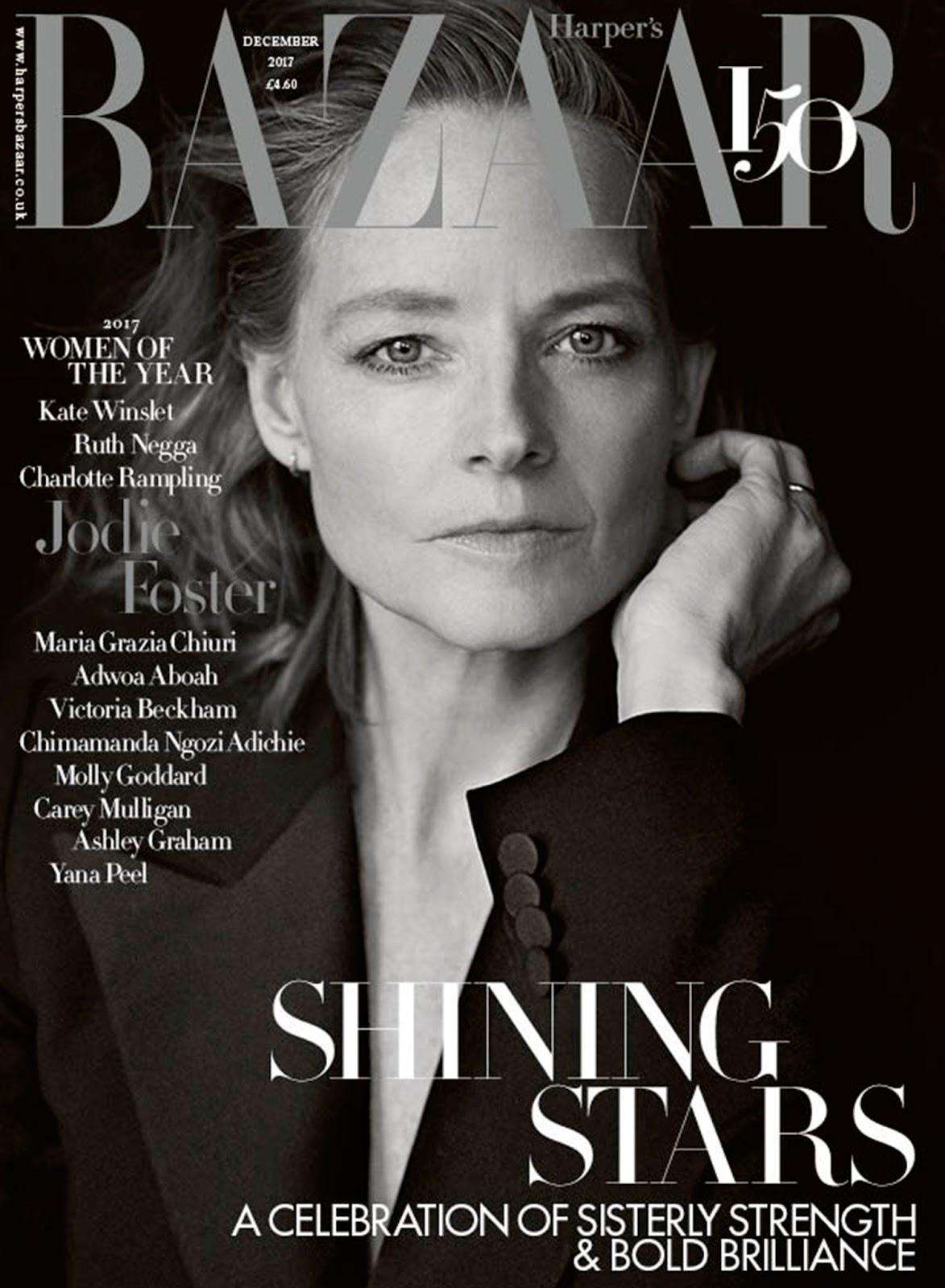 Jodie Foster in Harper's Bazaar UK December 2017 by ...