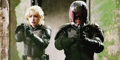 Chick from dredd is hot as fuk in the movie, but ugly as
