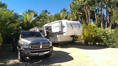Our camp site in East Cape RV Park, Los Barriles, BCS, MX