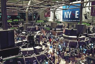 On the floor Wall street investors New York Stock exchange market