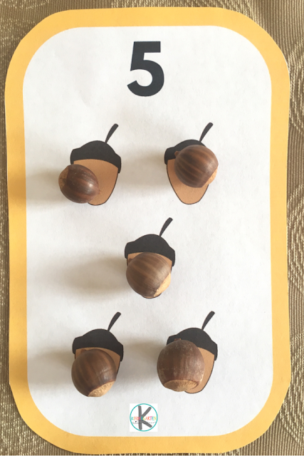 hands-on-math-activity-for-one-on-one-correspondence-using-acorns-as-manipulative
