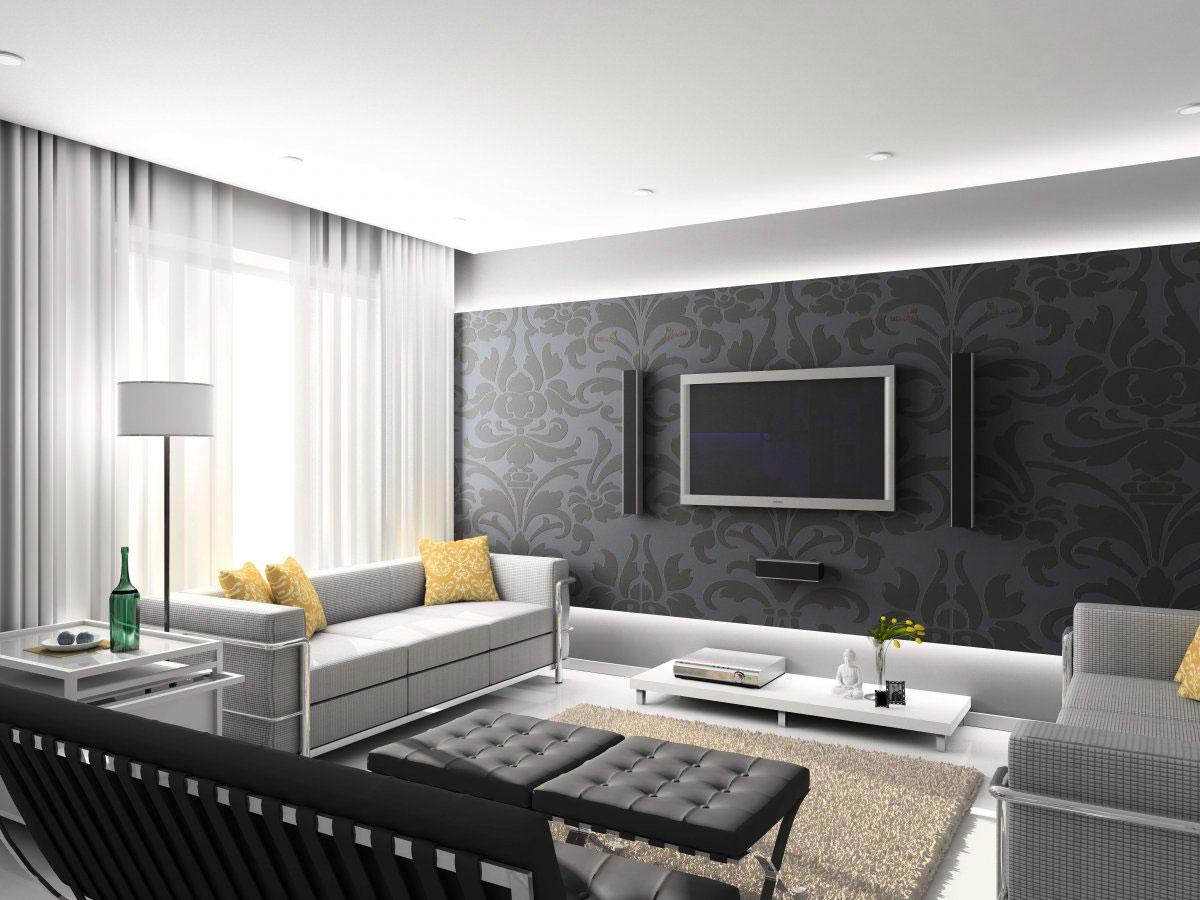 Top 10 Desain Ruang Tamu Hitam Dan Putih Dekorasi